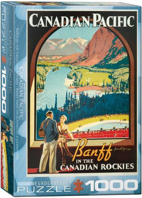 1000pc Banff in the Canadian Rockies