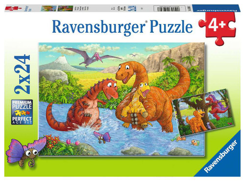 4+ 2 x 24pc Dinosaurs at Play 2 x 24pc