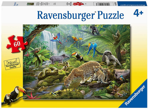 4+ Rainforest Animals 60pc