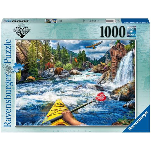 1000pc Whitewater Kayaking