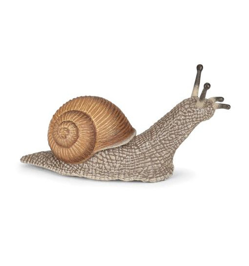 Uh oh, what's that in the garden? Oh, it's a toy snail figurine made by Papo, so it's not going to eat the lettuce, after all!   This beautifully hand-painted toy snail figurine from Papo is as versatile as it is realistic - perfect for educational, play, and therapy settings.