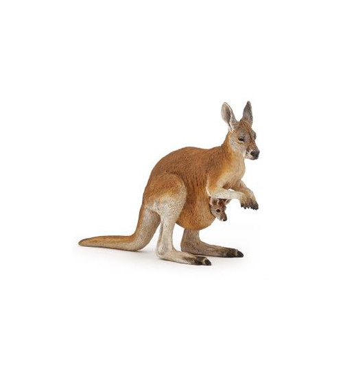 This beautifully hand-painted toy kangaroo and joey figurine from Papo is as versatile as it is realistic - perfect for educational, play, and therapy settings.