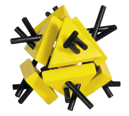 Triangles, yellow/black- bamboo puzzle