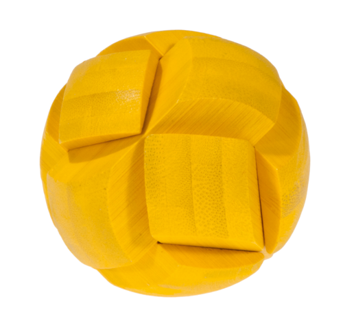 Yellow- bamboo puzzle