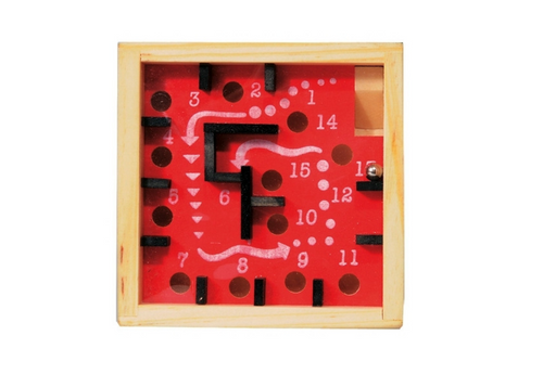 Wooden Labyrinth Game, 9cm