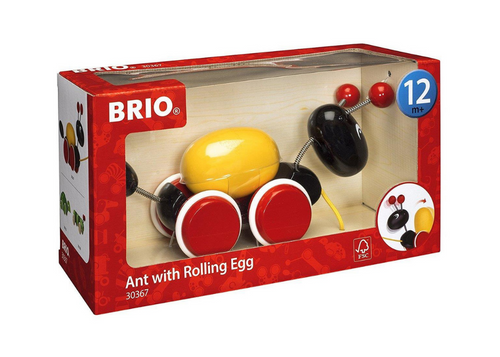 Ant With Rolling Egg - Pull Along