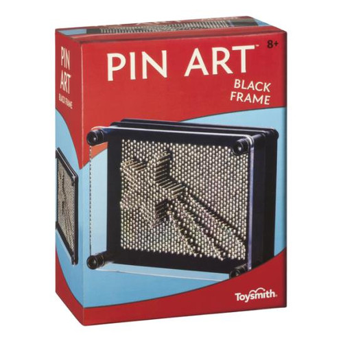 """Pin Art with 3 1/4"""" x 5 """" frame  Create a 3D relief with the black metal pins or push the pins back & forth for a pleasant sensation on the fingers.  For 8 yrs +"""