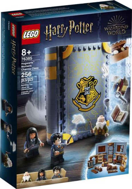 Take a charms class with Harry Potter: with a Lego set that appears to be a textbook - and opens up into a charms classroom!     For 8 yrs+