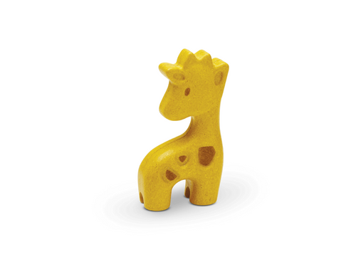 Little Giraffe toy figurine from Plan Toys, made of rubber wood.  For 12 months +