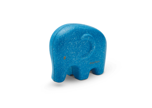Little Elephant from Plan Toys, made of rubber wood.  For 12 months +