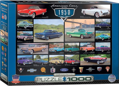 A time when life was simple and the cars had character... Enjoy this 1000pc puzzle: American Cars of the 1950s!