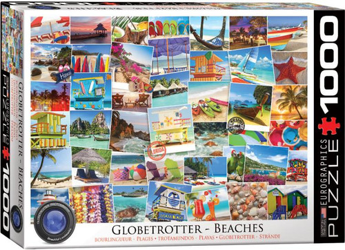 Beaches from around the world are brought together in this 1000 pc Globetrotter collection puzzle from Eurographics.
