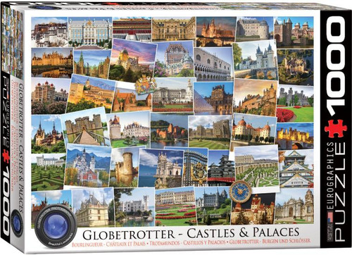 Castles, palaces and their spectacular grounds feature in this Globetrotter series 1000 pc puzzle from Eurographics.