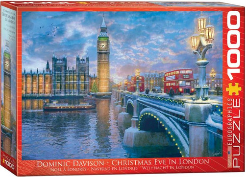 Enjoy a stroll across the Westminster Bridge towards an illuminated Big Ben on Christmas Eve, taking in the quiet of the night after the last minute rush of shopping has ceased and most of the population is at home, or on their way there, ready to celebrate with their loved ones. The whole family can enjoy this 1000pc Christmas Eve in London puzzle.
