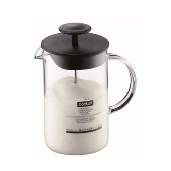 Milk frother by Bodum, hand operated milk frother for latte and milky coffee drinks