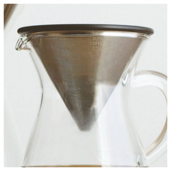 KINTO SCS-02-SF Stainless Filter 2 cup - in glass carafe