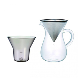 Coffee Carafe Set 300ml Stainless Steel - KINTO SCS-02-CC-ST