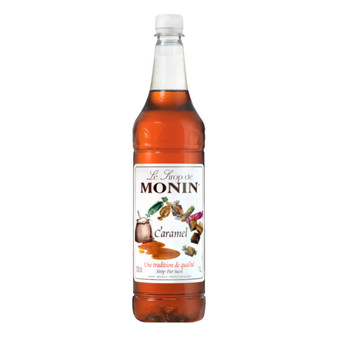 Monin Caramel Coffee Syrup - 1ltr Bottle