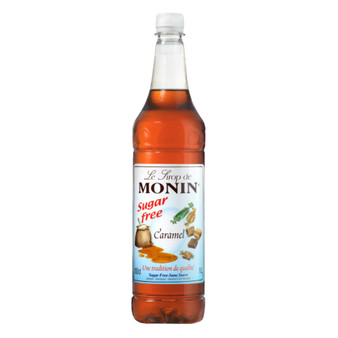 Monin Caramel Sugar Free Coffee Syrup 1ltr Bottle