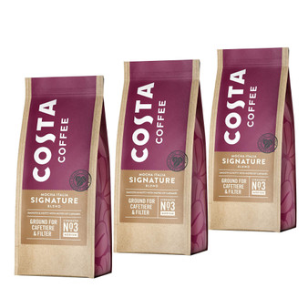 Costa Coffee Signature Blend Roast & Ground for Cafetiere 200g