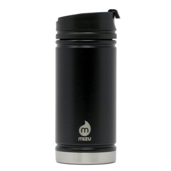 Mizu V5 Insulated Stainless Steel Travel Flask Bottle with Coffee Lid - Black