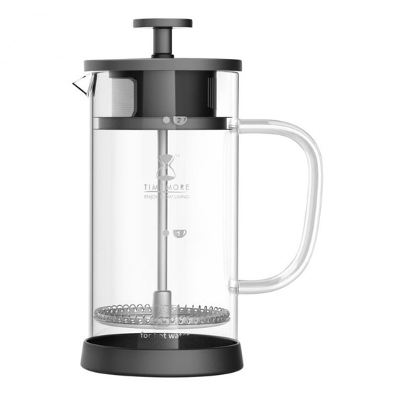 Timemore French Press 2 Cup Black 0.35L Built in Filter