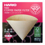 HARIO V60 Paper Filters 01 Dripper 40 Sheets - Unbleached