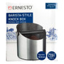 Coffee Knock Box with Knock Bar - Stainless Steel