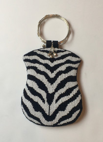 Zebra Beaded w/ Ring Handle
