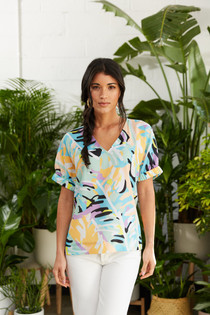 Nora Top in Paradise Palm