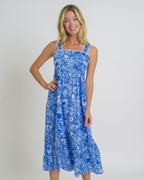 Everly Dress in Harbor Blue