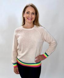 Rainbow Ink Sweatshirt in Sunkissed Pink