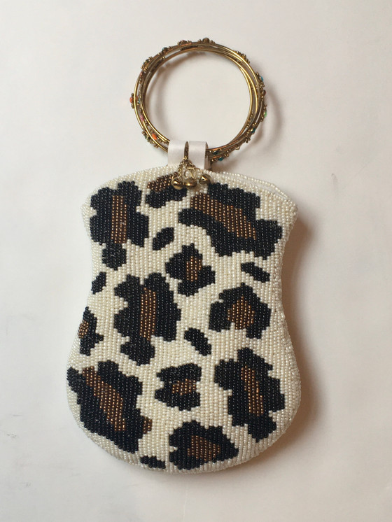 Leopard Beaded w/ Ring Handle