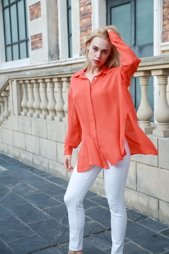Boyfriend Blouse in Sunrush