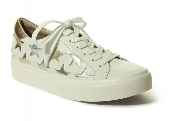Yolen Sneaker in White Nappa Metallic