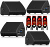 """4x Turbosound TFX122M-AN Powered 12"""" Flashline Stage Monitor 1100W & Free Cables"""