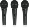 Behringer XM1800S 3 Dynamic Cardioid Vocal and Instrument Microphones (Set of 3)