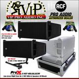 2x RCF HDL 6-A LINE ARRAY 1400W+ PM-KIT 3X HDL 6 + X-RCF-HDL6LAX2W Case + Cables