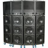 4x Yorkville SA153 3Way 2500W Speaker + 4x SA315S Active Subwoofer + 4x SADOLLY1