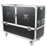 ProX X-RCF-EVOX12X2W Flight Road Case For Two RCF EVOX-12 Array System w/ Wheels