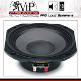 "18 Sound 6NM410B 6"" Midrange Speaker Neodymium 180W AES 8 Ohm Free Fast Shipping"