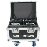 ProX X-BLITZZFX X2 Blitzz FX Set of Two Smaller Model Cold Spark Machines W CASE