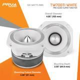 "PRV TW700Ti WHITE Titanium 4"" Super Bullet Tweeter 8-Ohm 240W 3500 to 20kHZ PAIR"