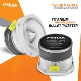 """PRV TW700Ti WHITE Titanium 4"""" Super Bullet Tweeter 8-Ohm 240 Watts 3500 to 20kHZ"""