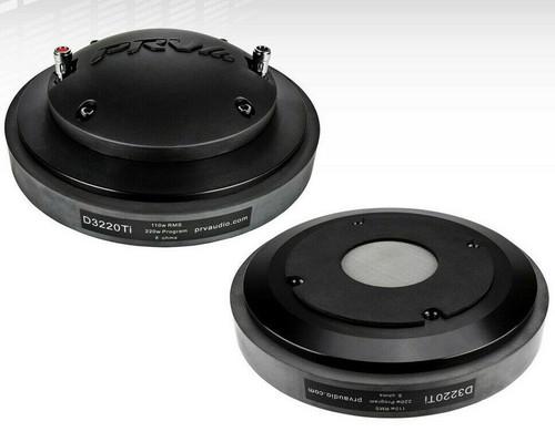 "(2) PRV D3220Ti Pro Audio 2"" Titanium Compression Driver Bolt-On Type 220W 8-Ohm"