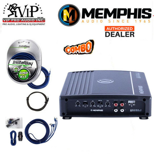 NEW MEMPHIS SRX150 2 2-CHANNEL 150W CAR STEREO AUDIO AMPLIFIER + 1000W AMP  Kit