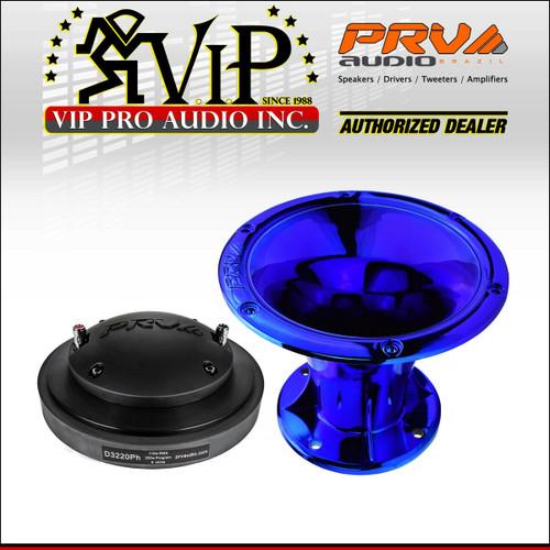"PRV Audio D3220Ph Phenolic Compression Driver 2/"" WGP14-50 Gold CR Horn 8 ohm"