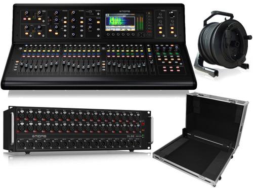 Midas M32-LIVE Digital Console + DL32 Preamplifier + XS-MIDM32W Case + NCAT5E-50