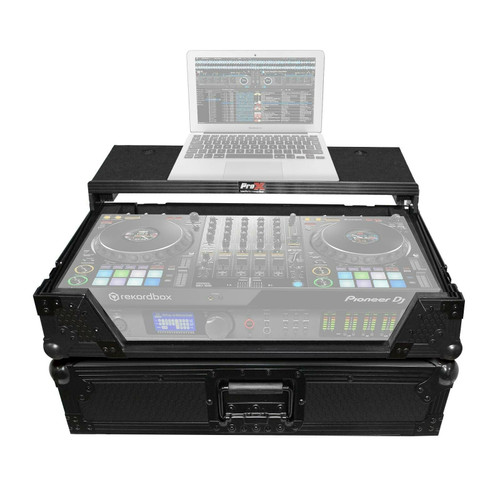 ProX XS-DDJ1000WLTBL Pioneer DDJ-1000SRT DDJ-1000 Flight/Road Case w/ Sliding Laptop Shelf