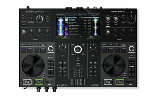 "Denon Prime GO 2-Deck Rechargeable Smart DJ Console with 7"" Touchscreen W/ WiFi"